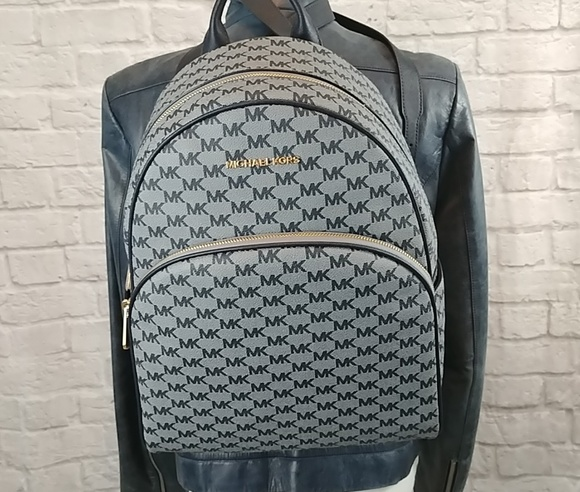 9dc3bf1e9d8d Michael Kors Large LG ADMIRAL blue Abbey backpack
